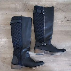 Just Fab Cornithia quilted boot